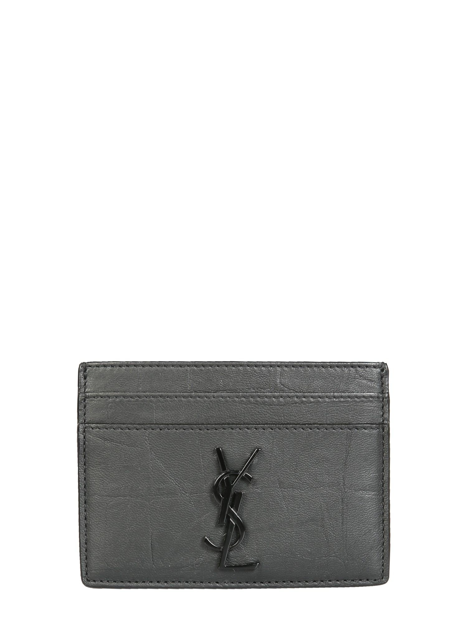 saint laurent card holder with logo