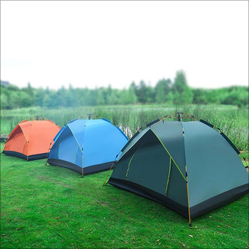全自動 2-3人帳篷  戶外 全自動 液壓式 秒開 速搭 2-3人帳篷 送 收納袋 營釘 營繩  3色【NTJCP02A】-TAIJI-