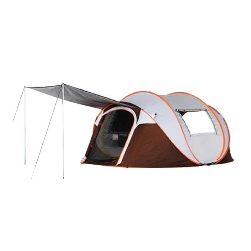 XINCHANG 戶外4-6人全自動秒開帳篷-前廳升級版 加專用防潮墊(4-6人專用)