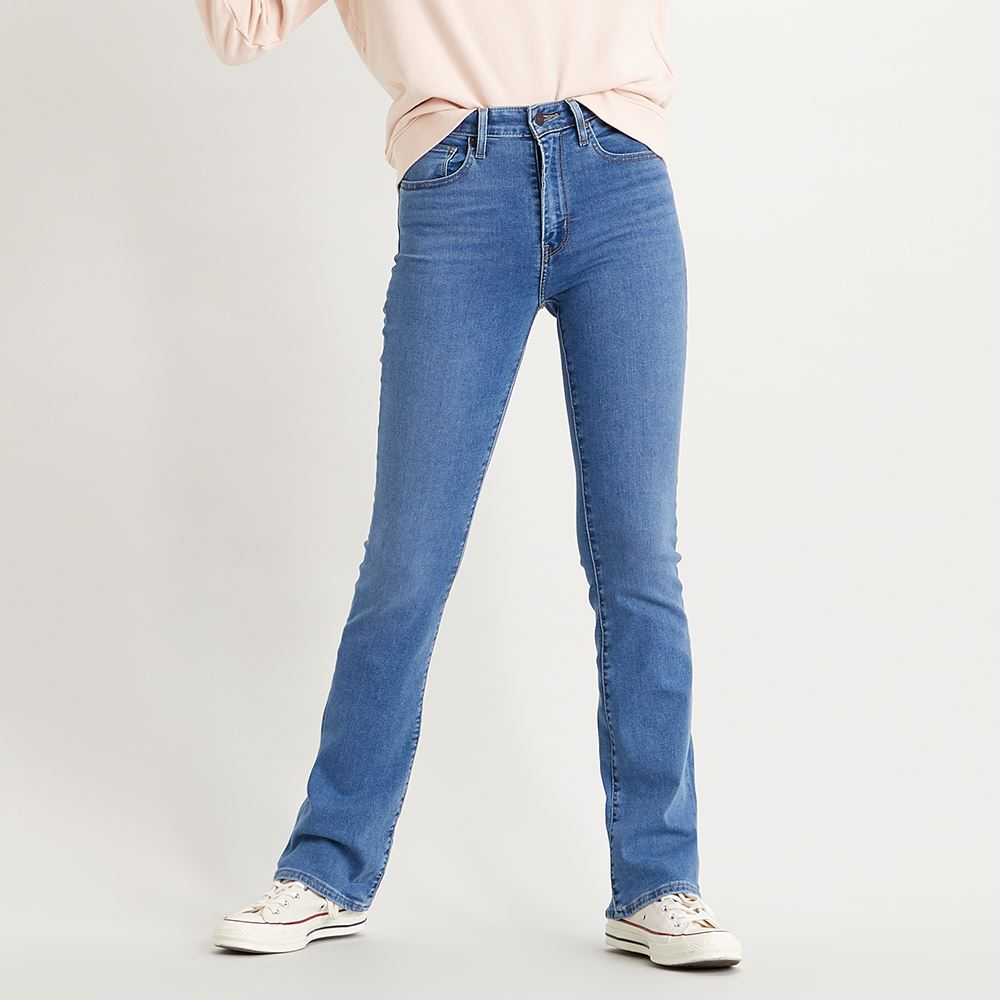 Levis 女款 725 高腰合身靴型牛仔褲 / 淺藍刷白 / orta歐洲丹寧 / 彈性布料-熱銷單品
