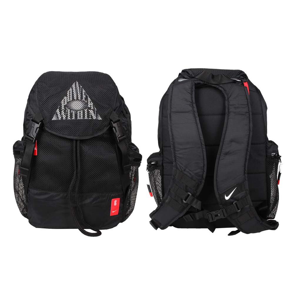 NIKE 大型後背包-雙肩包 肩背包 厄文 筆電包 15吋筆電 黑白 F