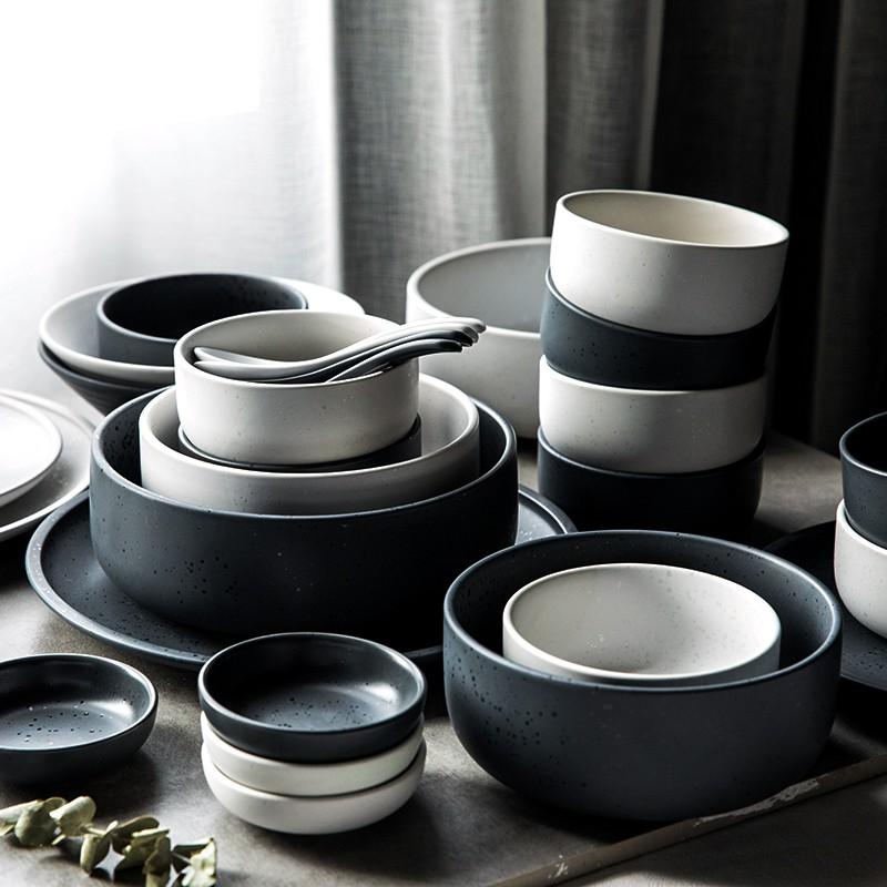 即物碗碟套裝家用餐具套裝碗筷餐具碗盤北歐餐具陶瓷餐具網紅餐具樂樂樂雜貨鋪