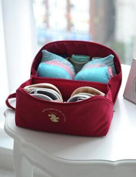 旅行衣服收納袋內衣包旅游便攜內褲收納包文胸包多功能衣物整理袋