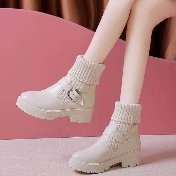 促銷大碼鞋 35-43碼 大碼女鞋馬丁靴英倫風秋冬網紅短靴子潮學生韓版百搭棉鞋