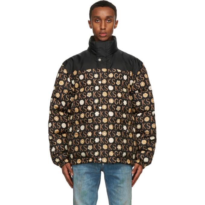 Gucci 黑色 Ken Scott 联名印花羽绒夹克