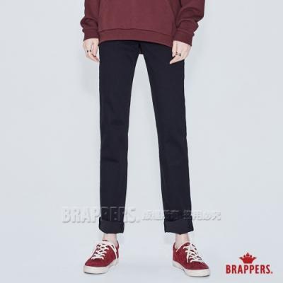 BRAPPERS 女款 Boy friend系列-中腰彈性小直筒褲-黑