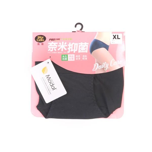 瑪榭抗菌無痕三角褲-XL黑【康是美】