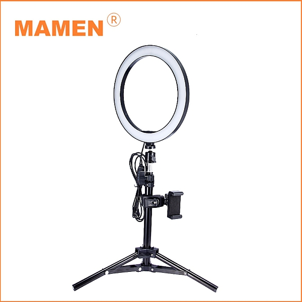 【MAMEN 慢門】10吋環形補光燈+160CM燈架(公司貨)