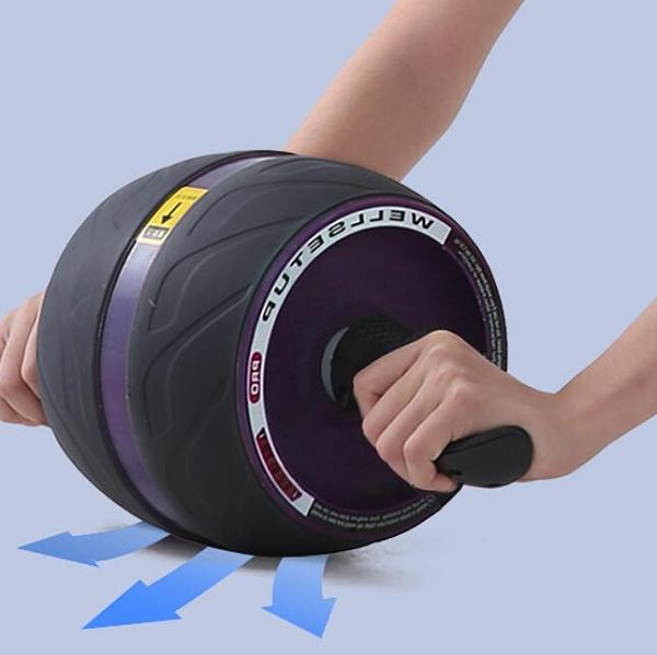 健腹輪 男士女家用健身收腹自動回彈輪初學者防滑巨型輪收腹肌器材【快速出貨八折下殺】