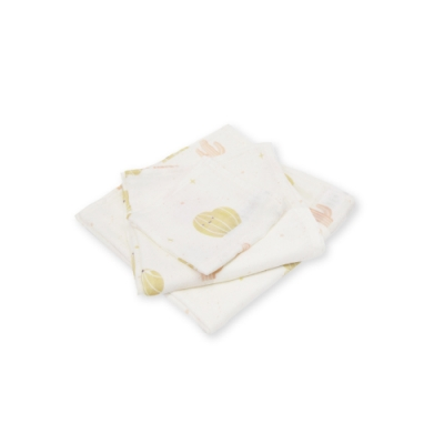 Cuz 有機棉紗布巾甜笑撒哈拉(防皺紗布巾)30cm(2入)