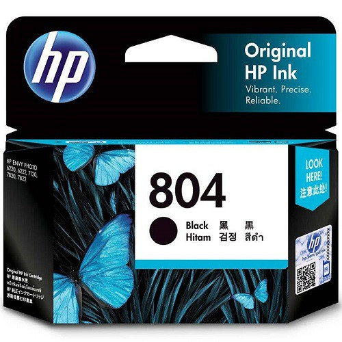 HP 惠普 T6N10AA 黑色 原廠墨水匣 HP 804 Black Original Ink Cartridge
