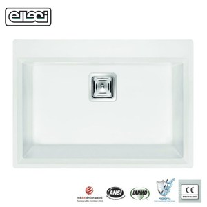 【MIDUOLI米多里】KARISMA120 玻璃結晶石水槽白色
