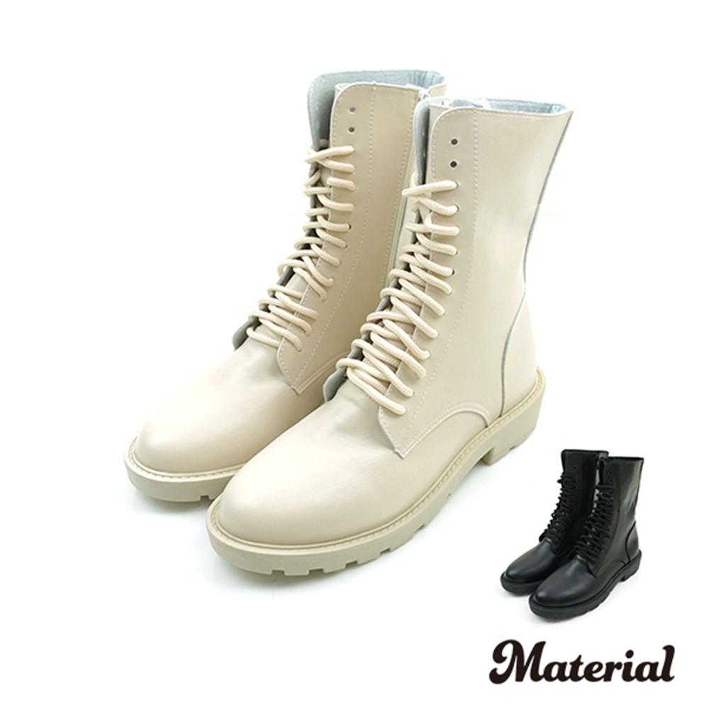 中長靴 率性綁帶中長靴 T6617