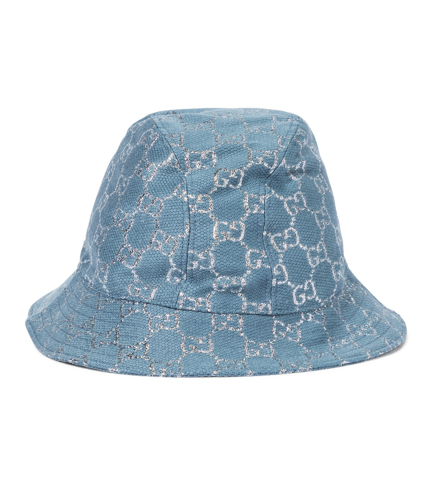 GG lamé bucket hat