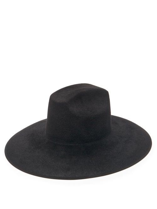 Gucci - Wide-brimmed Felt Hat - Mens - Black