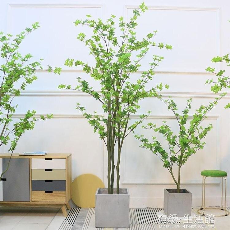 仿真植物日本吊鐘樹馬醉木 網紅大型盆栽綠植落地盆景假北歐ins風