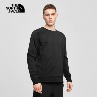 The North Face北面男款黑色保暖透氣長袖上衣 3M2CJK3