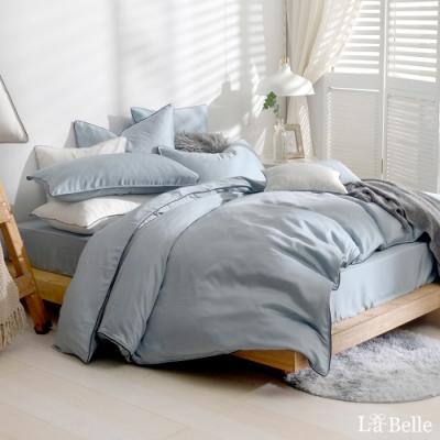 義大利La Belle 雅致典範 特大天絲滾邊刺繡防蹣抗菌吸濕排汗兩用被床包組 綠色
