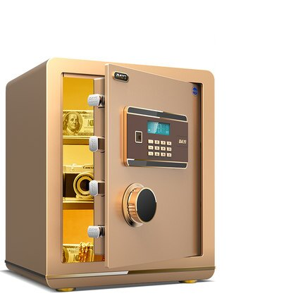 保險櫃小型 保險箱45cm 家用防盜全鋼珠寶櫃 保險柜辦公電子密碼yh