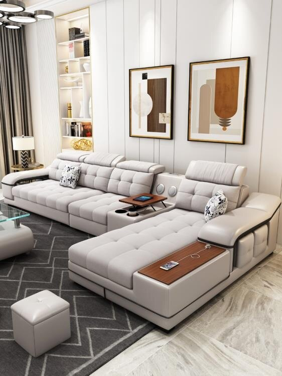 樂天精選▶北歐布藝沙發客廳小戶型可拆洗簡約現代輕奢三人皮布沙發整裝家具