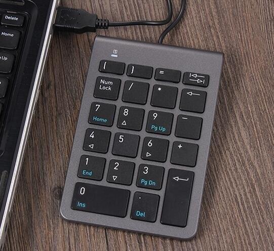 數字鍵盤 數字小鍵盤 電腦有線外接超薄財務USB無線鍵盤【8號時光限時八折】 8號時光