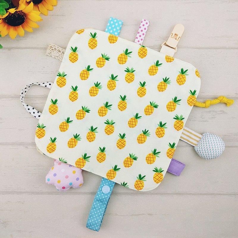 水果派對-8款可選。圓角響紙安撫巾 (免費繡名字)