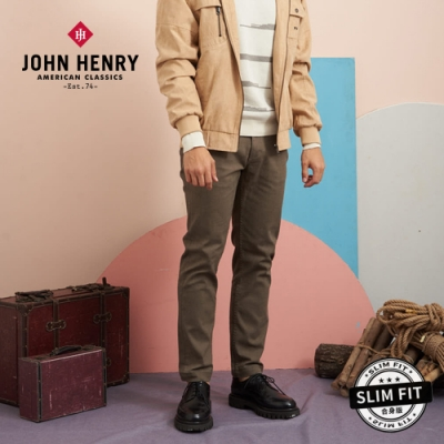 【JOHN HENRY】舒適彈性修身長褲-兩色選