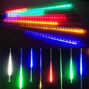 摩達客 聖誕燈裝飾燈LED流星燈串8條燈-四彩光插電式/單燈長50cm
