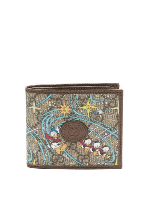 Gucci - X Disney Donald Duck Gg Supreme Bi-fold Wallet - Mens - Beige Multi