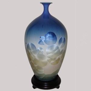 16 inch晶采富貴 結晶釉瓷器(台灣首席大師彭文雄)高39cm   直徑 22cm