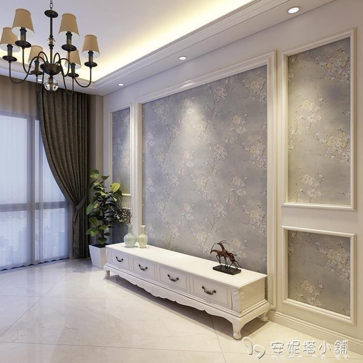 綠途高檔印花無縫背景牆布臥室 美式簡約歐式客廳電視背景牆壁布yh