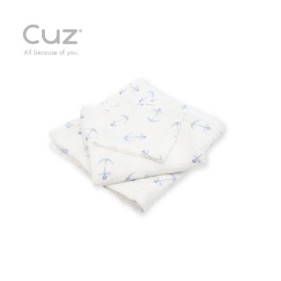 Cuz 有機棉紗布巾船錨水上漂(紗布巾)30cm(2入)
