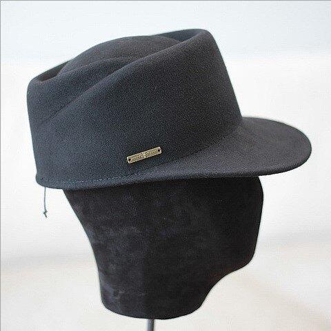 秋冬日本款凹頂斜紋型羊毛呢馬術帽棒球帽女情侶學院風氈帽子1入
