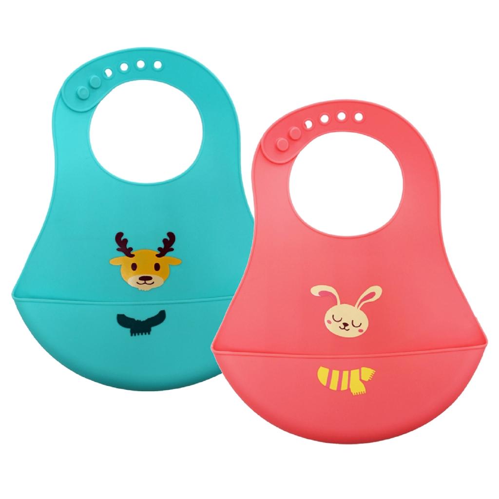 Vibebe 可愛造型矽膠圍兜 (麋鹿/兔子)【甜蜜家族】