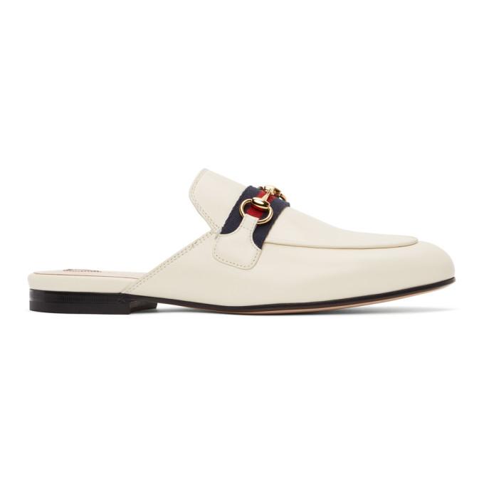 Gucci 白色 Princetown 穆勒鞋
