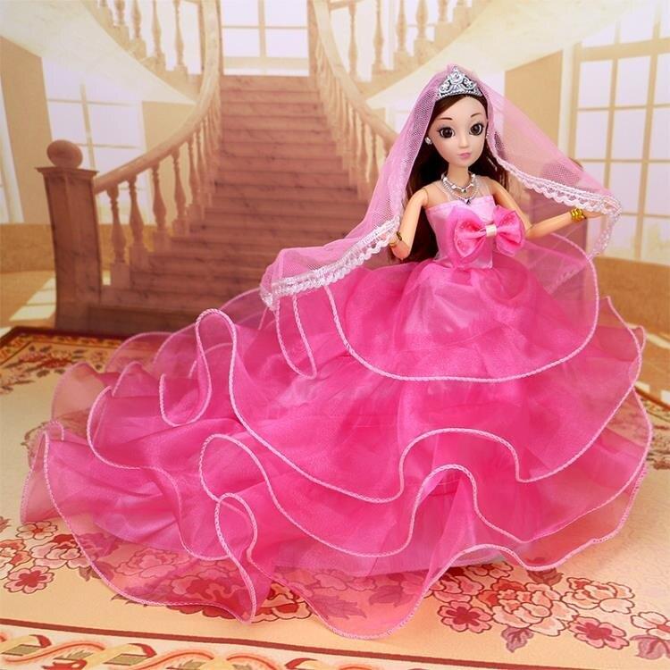 芭比娃娃 怡熙洋娃娃套裝兒童女孩玩具大號婚紗公主仿真精致單個超大布【快速出貨八折下殺】 8號時光