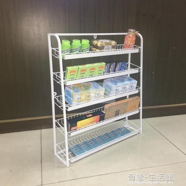 超市收銀台前小架子 便利店收銀台口香糖展示架 可懸掛掛牆小貨架AQ