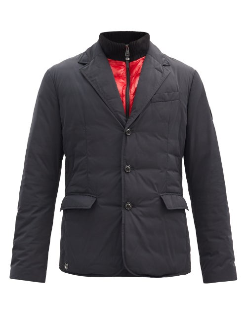 Ralph Lauren Purple Label - Single-breasted Recycled-shell Down Jacket - Mens - Black