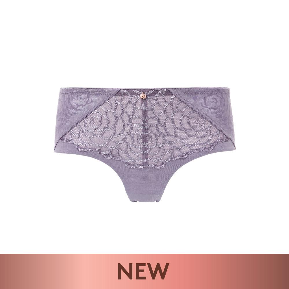 【新品優惠中】黛安芬-FLORALE 甜蜜薔薇系列 無痕中腰平口內褲 M-EL 紫藕色|87-2187 7S