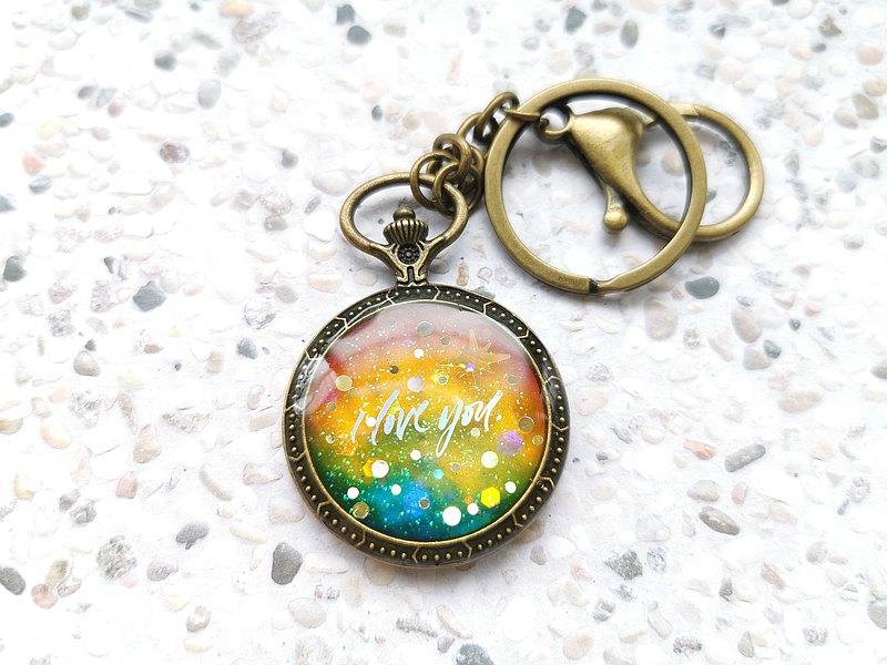 包與鑰的事 I love you 手作樹脂 鑰匙圈