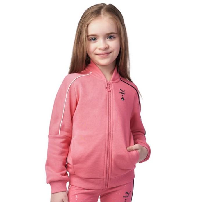 PUMA SEGA 59631914 596319-14 女童 外套 粉色 歐規 棉質 音速小子 立領外套 童裝