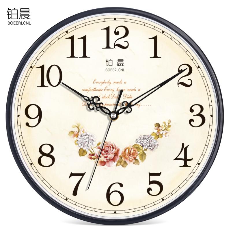 【限時結帳領券現折30】歐式靜音掛鐘客廳臥室辦公時鐘簡約時尚掛錶現代創意石英鐘錶 【妙吉生活館】