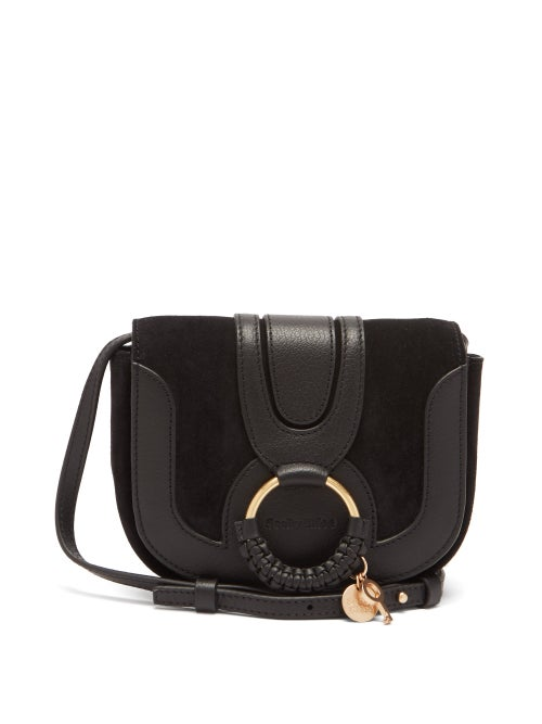 See By Chloé - Hana Mini Leather And Suede Cross-body Bag - Womens - Black