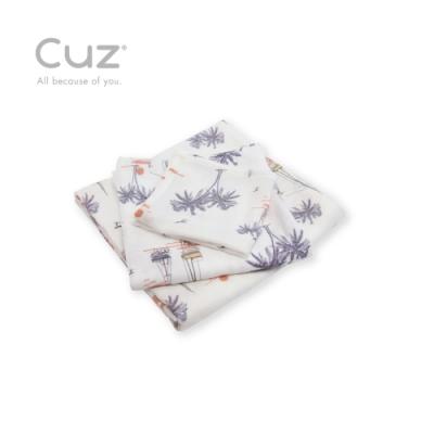 Cuz 有機棉紗布巾南島印象(防皺紗布巾)30cm(2入)