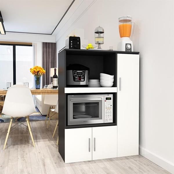 餐邊櫃現代簡約茶水櫃客廳櫃子儲物多功能廚房經濟型碗櫃微波爐櫃 【棉花糖伊人】