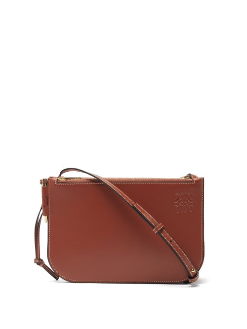 Loewe - Gate Leather Cross-body Bag - Womens - Brown
