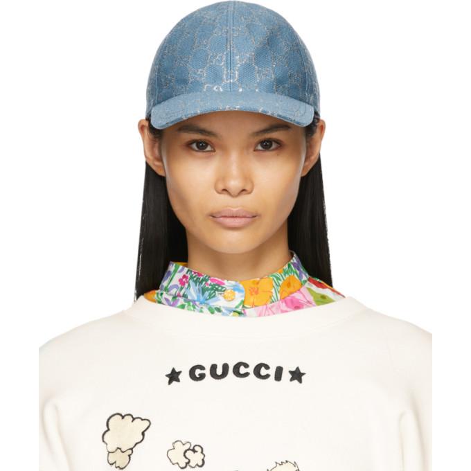 Gucci 蓝色 GG Lame 棒球帽