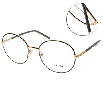 PRADA 光學眼鏡 設計圓框款(黑-金) #PR52WV 02H1O