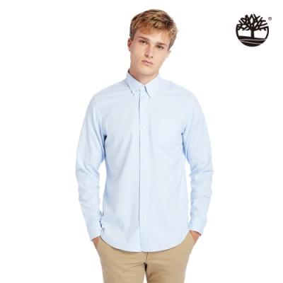 Timberland 男款天空藍單邊口袋長袖襯衫|A2ES5