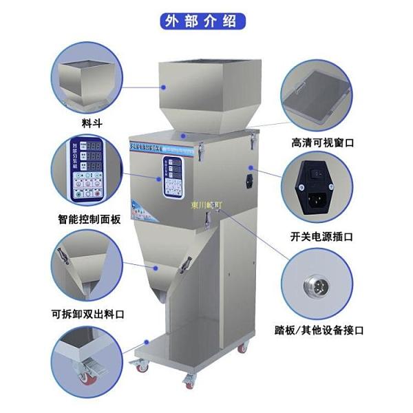 瑞信全自動大定量分裝機顆粒粉末茶大米洗衣粉雜糧食品定量灌裝機 快速出貨